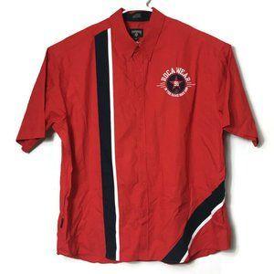 Rocawear Color Block Button Up Shirt Street Wear